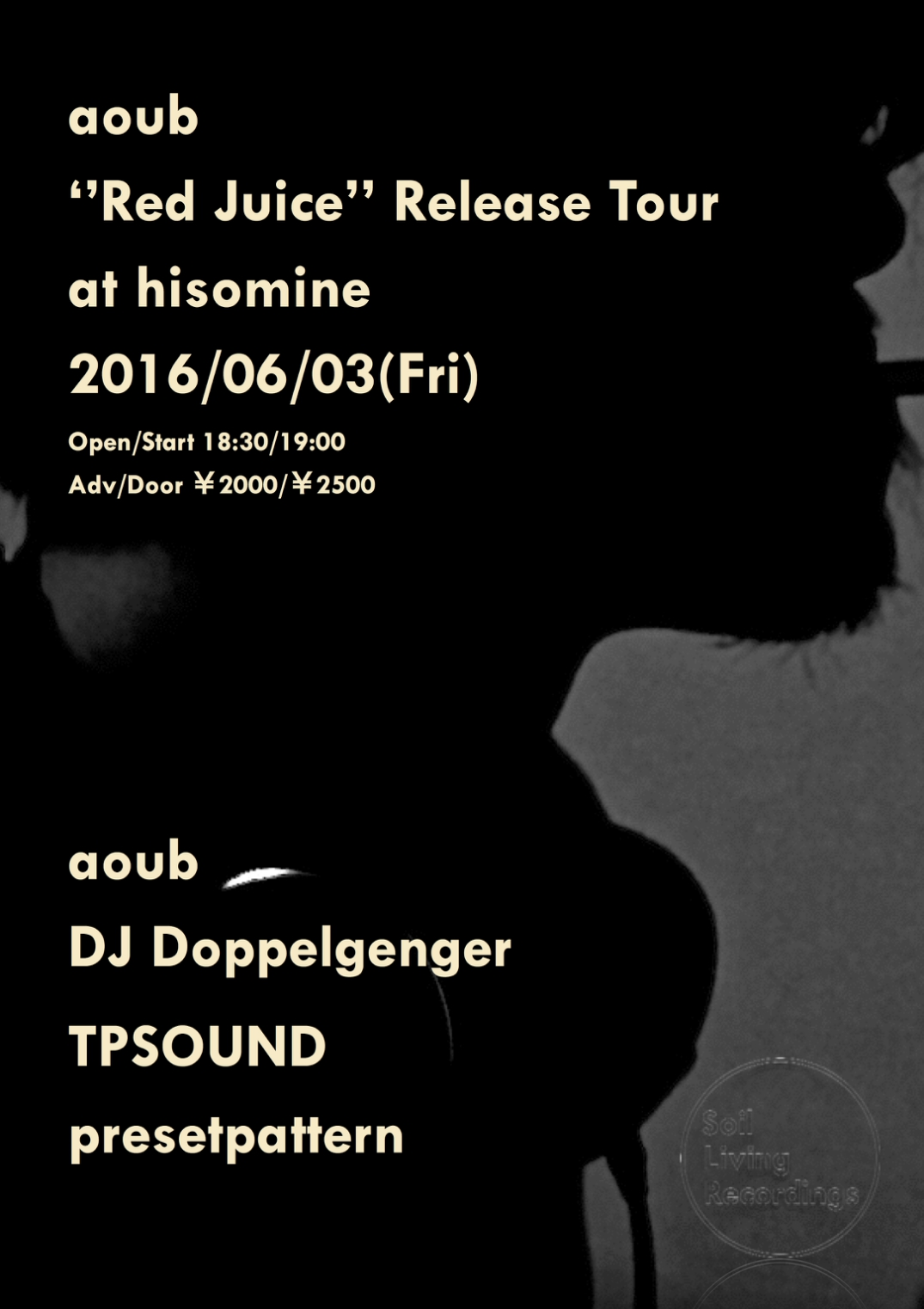 County ''aoub『Red Juice』 Release Tour'' at histamine