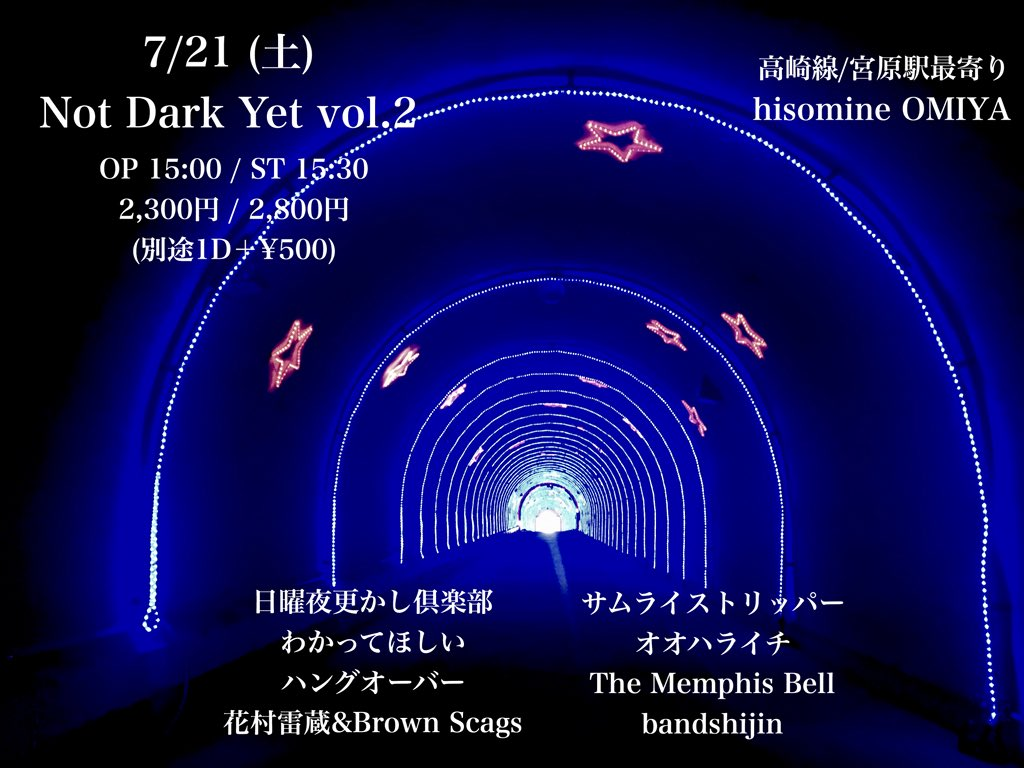 Not Dark Yet  vol.2